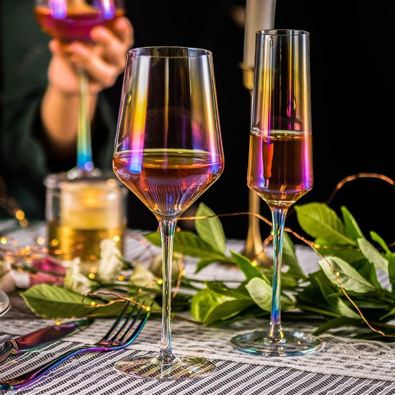 2 PCS /Set Colorful Wine Glass