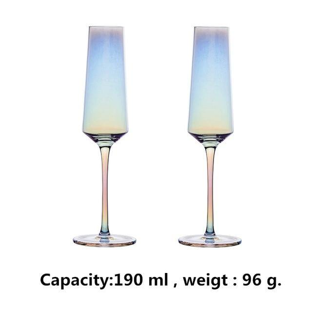 2 PCS /Set Colorful Wine Glass - Urban Factorie