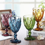 Multicolor Carved Goblet Wine Glass