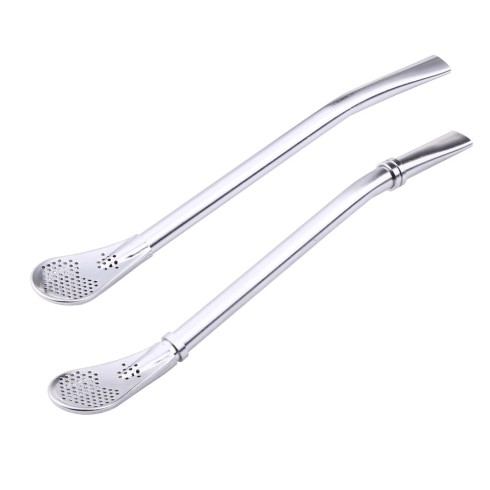 Stainless Steel Straw Spoon Tea Filter - Urban Factorie