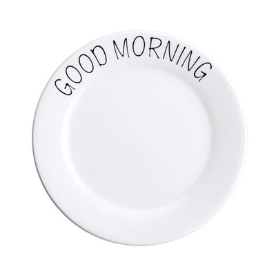 Quote Pattern Porcelain Plate - Urban Factorie