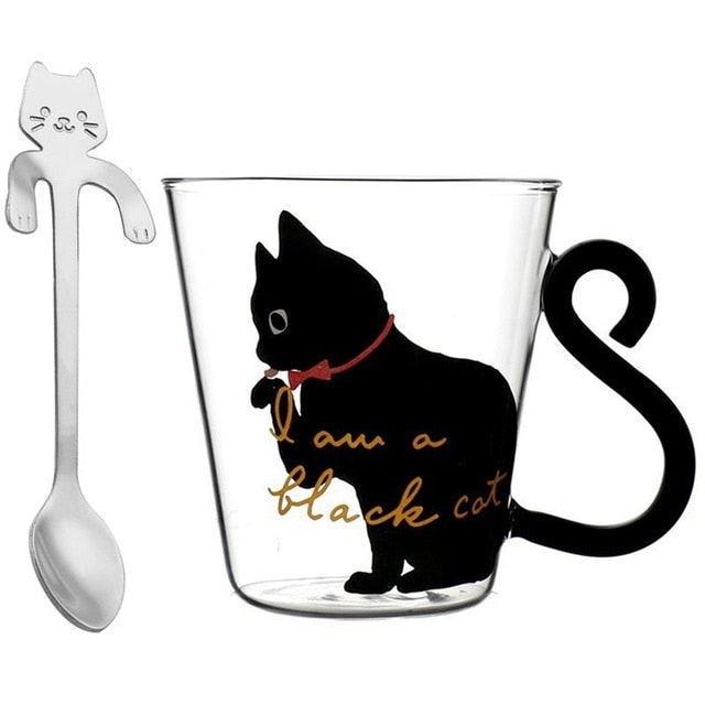 Cute Cats Heat Resistant Drinking Glass - Urban Factorie