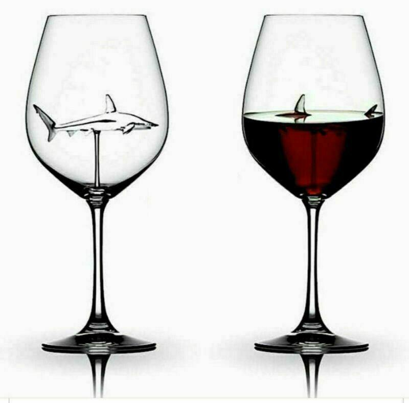 Built-in Shark Wine Glass