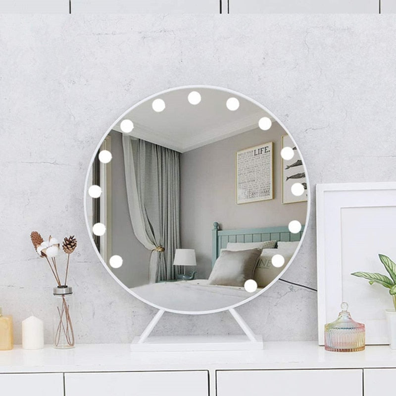 Hollywood Style LED Vanity Makeup Mirror with Light Bulb