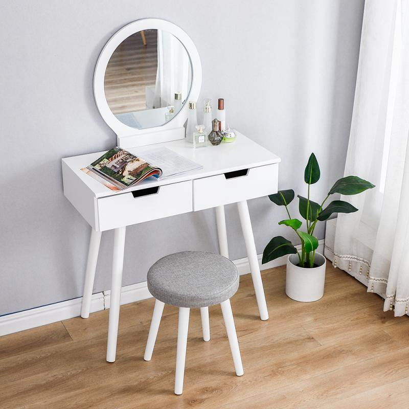 Dresser Table Mirror With Chair Set