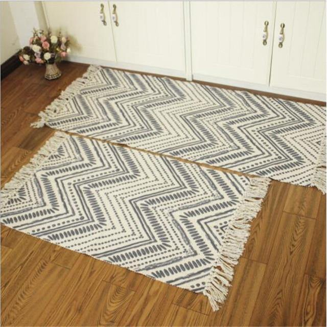 Cotton Soft Tassel Home Carpet