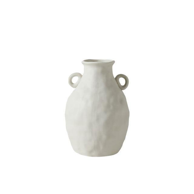 White Ceramic Vase - Urban Factorie