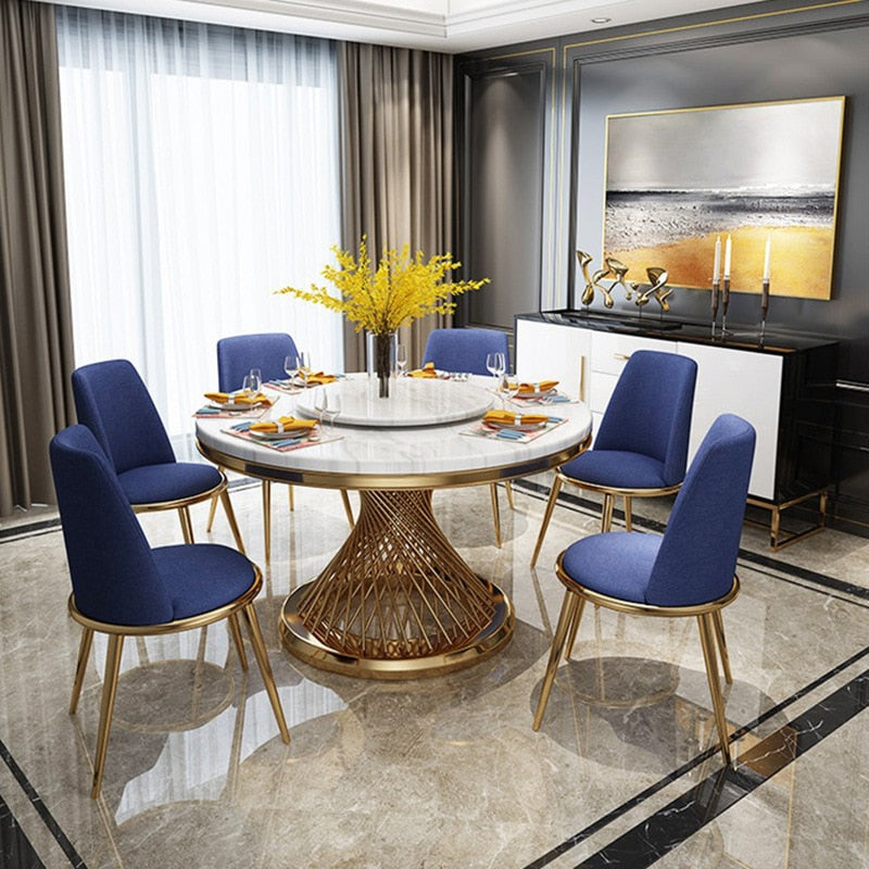 Postmodern Luxury Round Marble Dining Table