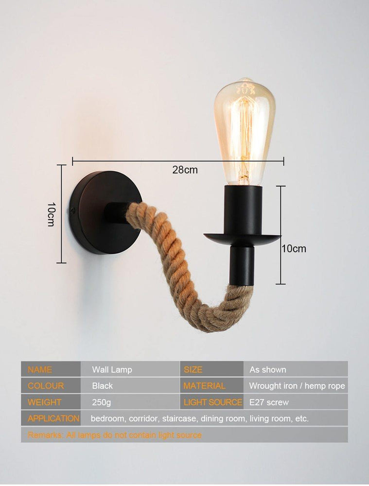 Rope Wall Lamp - Urban Factorie