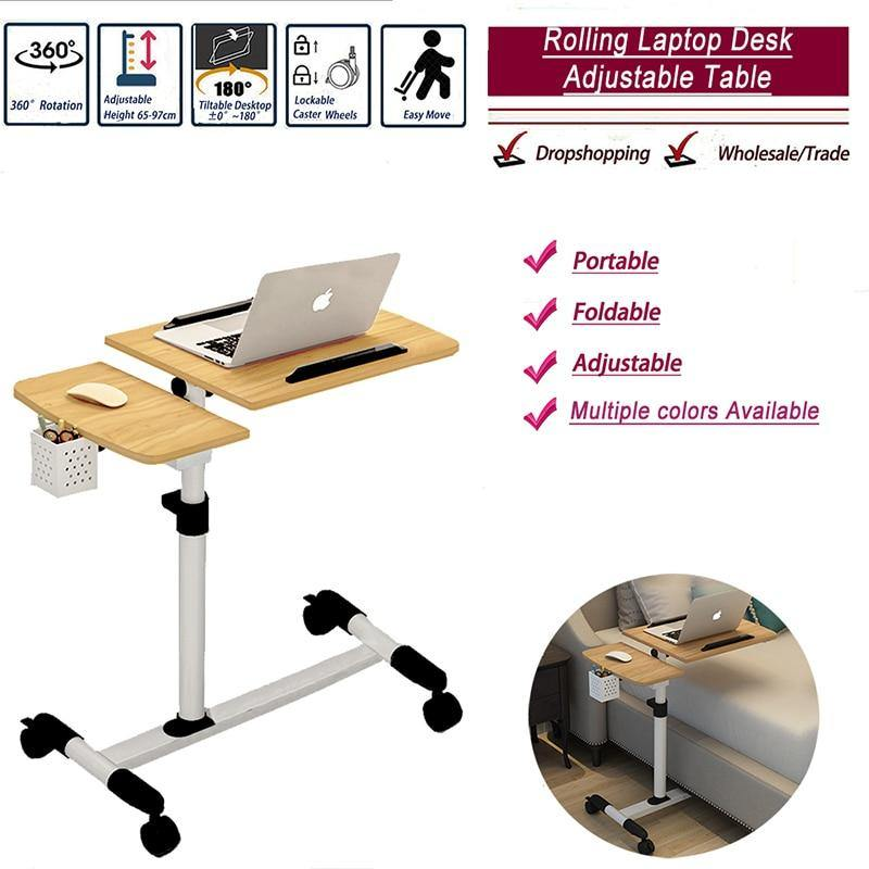Adjustable Bedside Laptop Table - Urban Factorie
