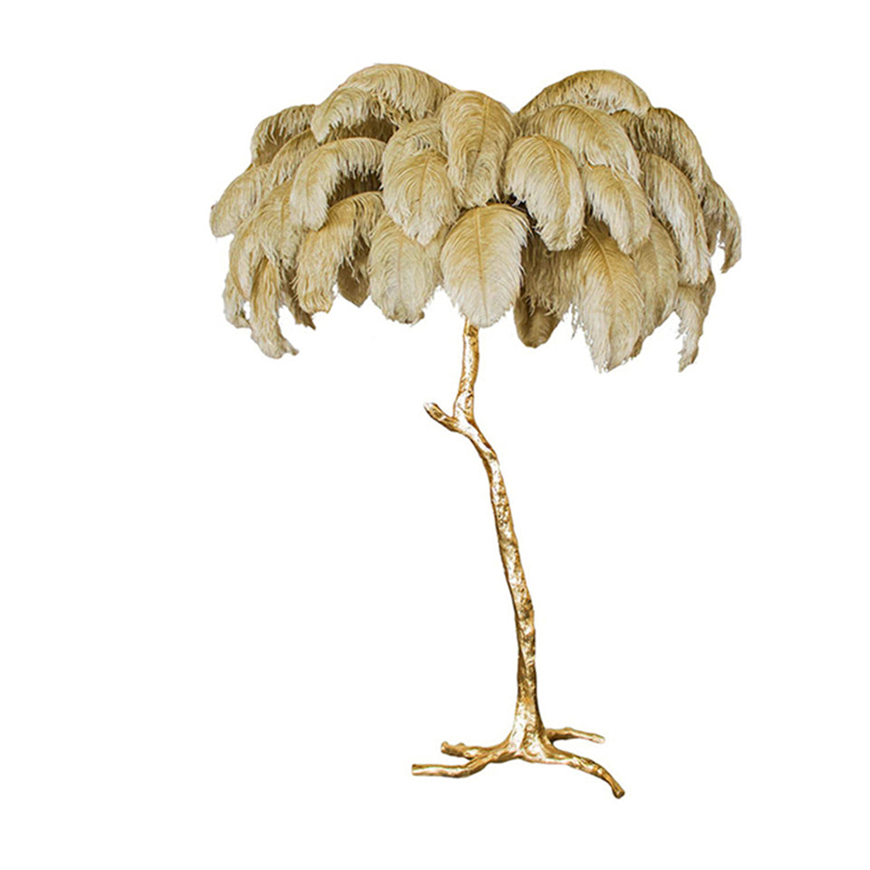 Luxury Ostrich Feather LED Floor Lamp