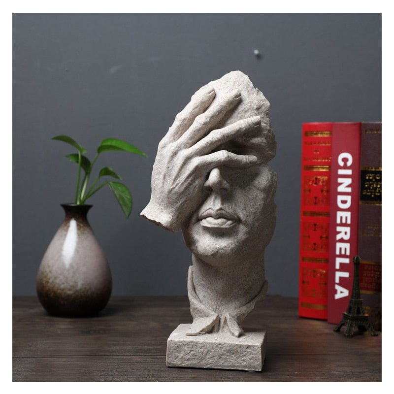 Vintage Thinker Sculpture - Urban Factorie