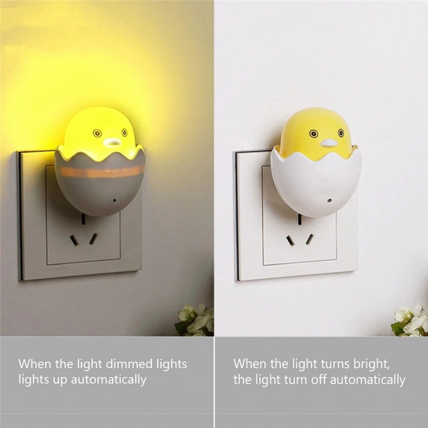 Mini Cartoon Yellow Duck LED Night Light