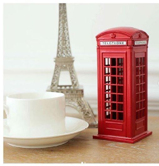 Coin Box Red British Telephone Booth