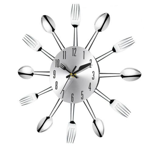 Modern Design 3D Stainless Steel Kitchen Wall Clock