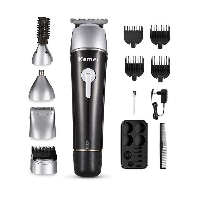 Kemei KM - 1015 5 in 1 Electric Hair Trimmer Clipper Shaver - Black EU Plug