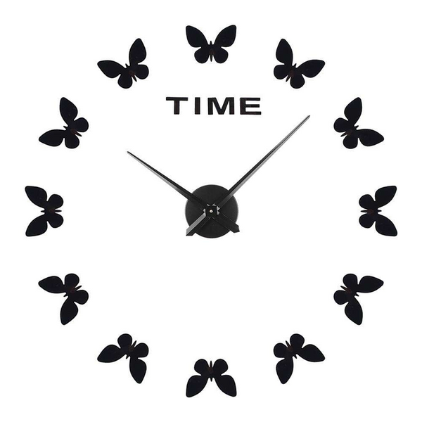 Butterfly Wall Clock DIY Acrylic Sticker