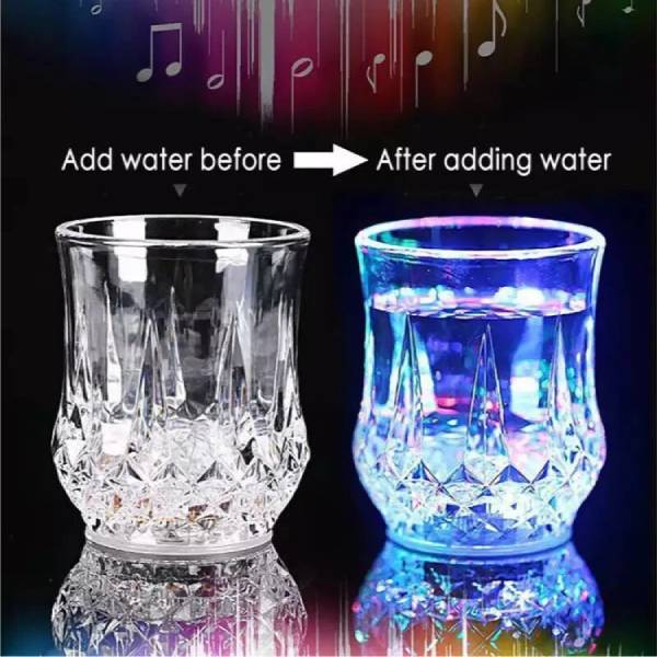 Magic Light Up Acrylic Mug 2pcs set.