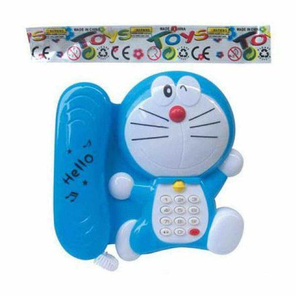 Toy Doraemon For Kids Music & Light Playing Phone with Free Cells