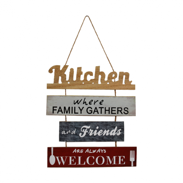 Kitchen Slated Sign Wooden