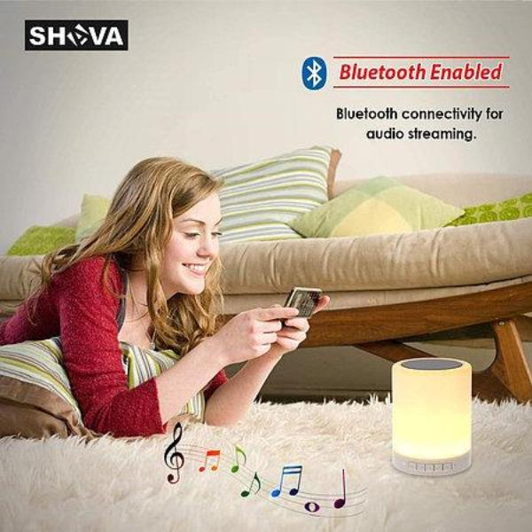 Night Lamp Portable Bluetooth Speaker Touch Control