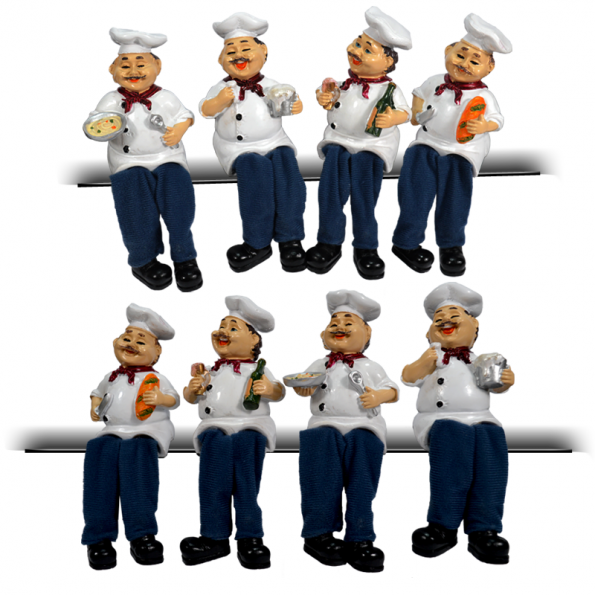 Flexible Legs Chef Decorative 4pcs Set