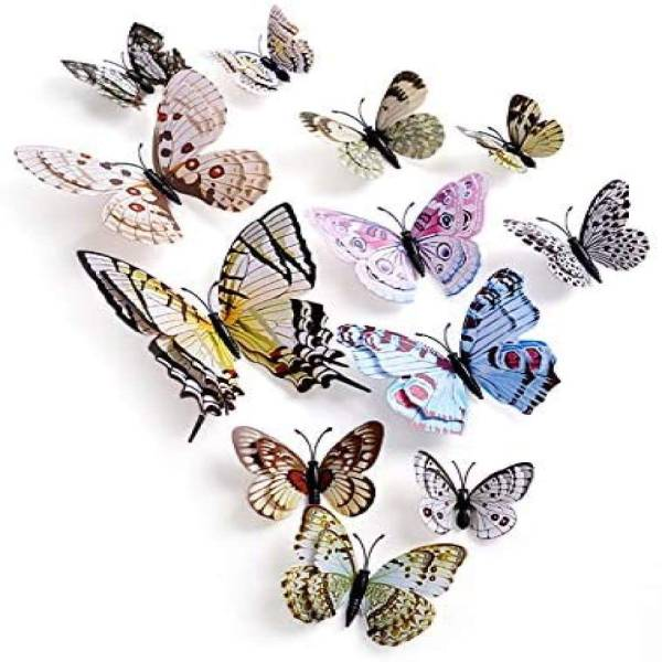 12 Pcs 3D Butterfly Wall Stickers PVC
