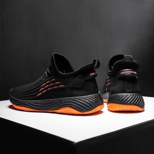 PS-Let Me Fly Orange Breathable Casual Shoes