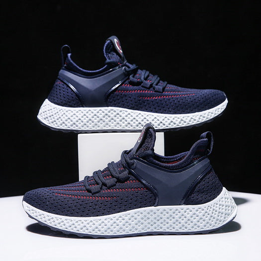 PS-New Trend Blue Mesh Men's Sports Casual Shoes For Student