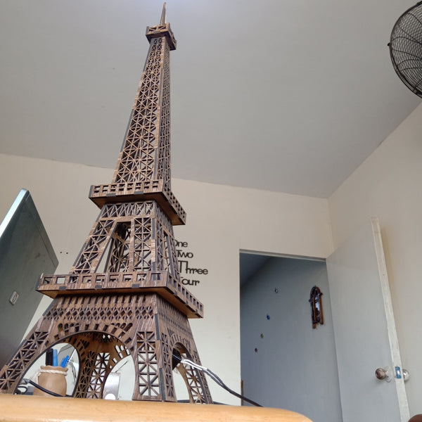Wooden Eiffel Tower LED Lamp