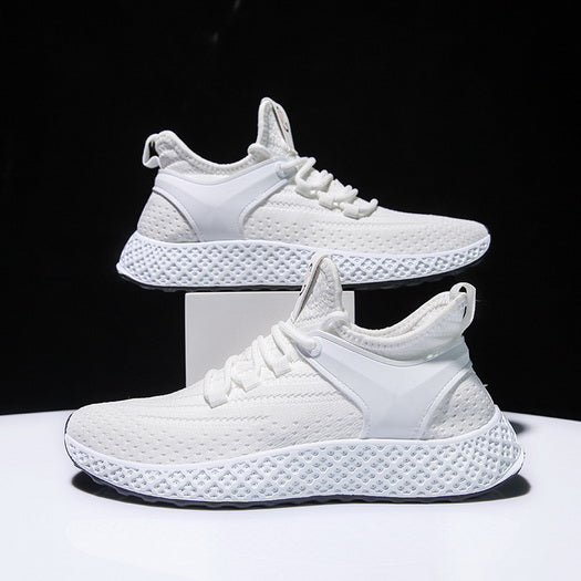 PS-New Trend White Mesh Men's Sports Casual Shoes For Student
