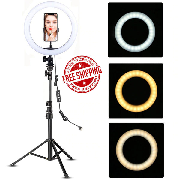 7 Feet Tripod with 26 CM Selfie Ring Light for Videos Best Quality