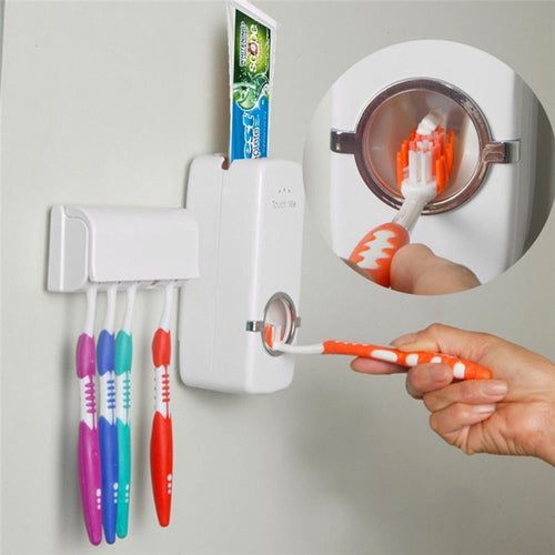 Automatic Toothpaste Dispenser  + Toothbrush Holder