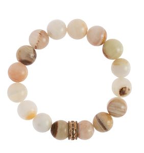 """Natural Onyx"" Stretchy Bracelet"
