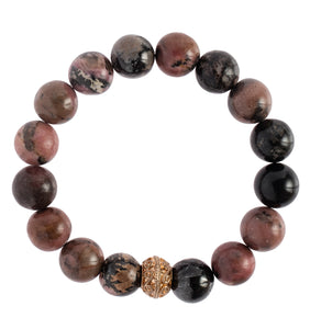 """Rhodonite"" Stretchy Bracelet"