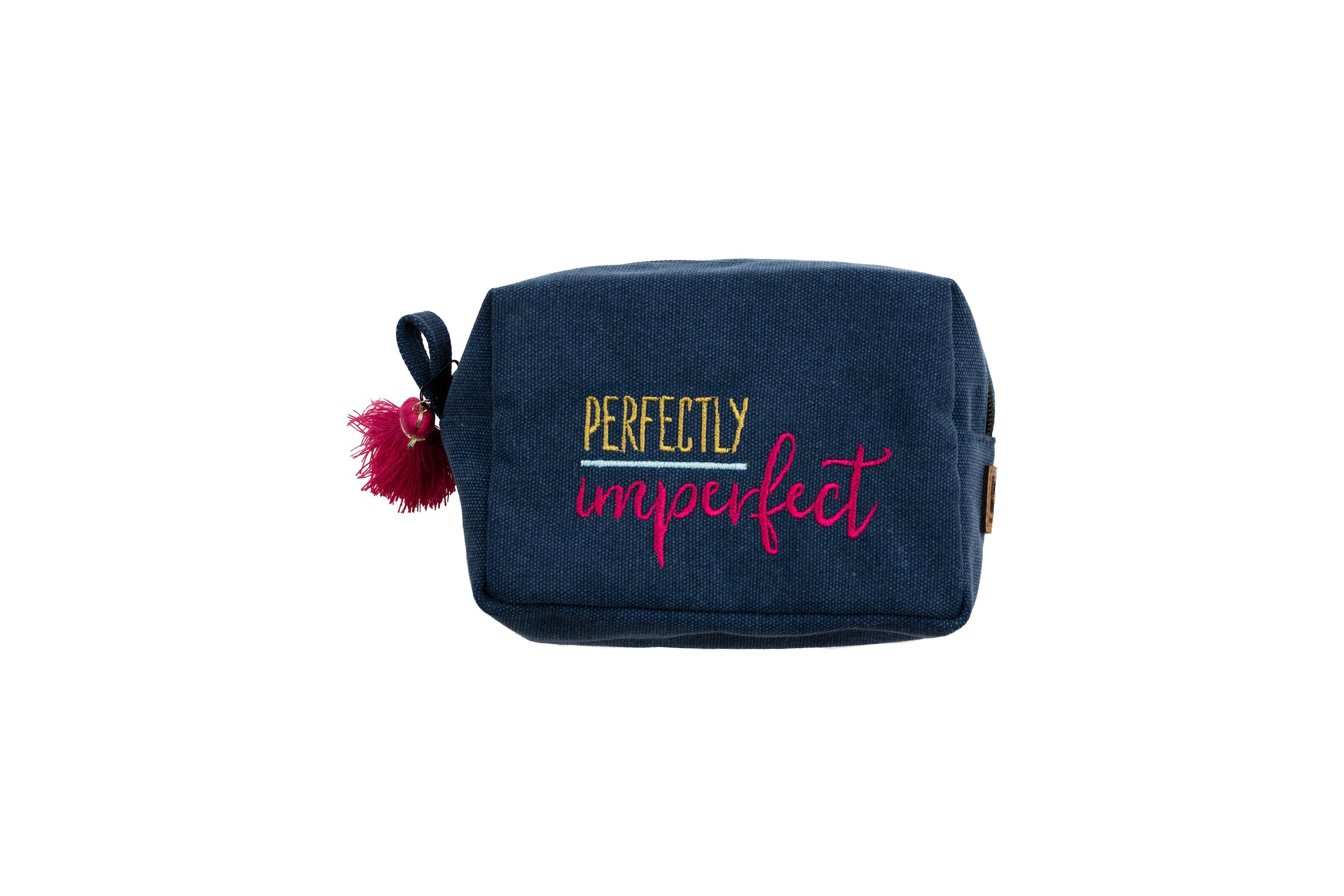 """Perfectly Imperfect"" Tasseled Zipper Pouch"