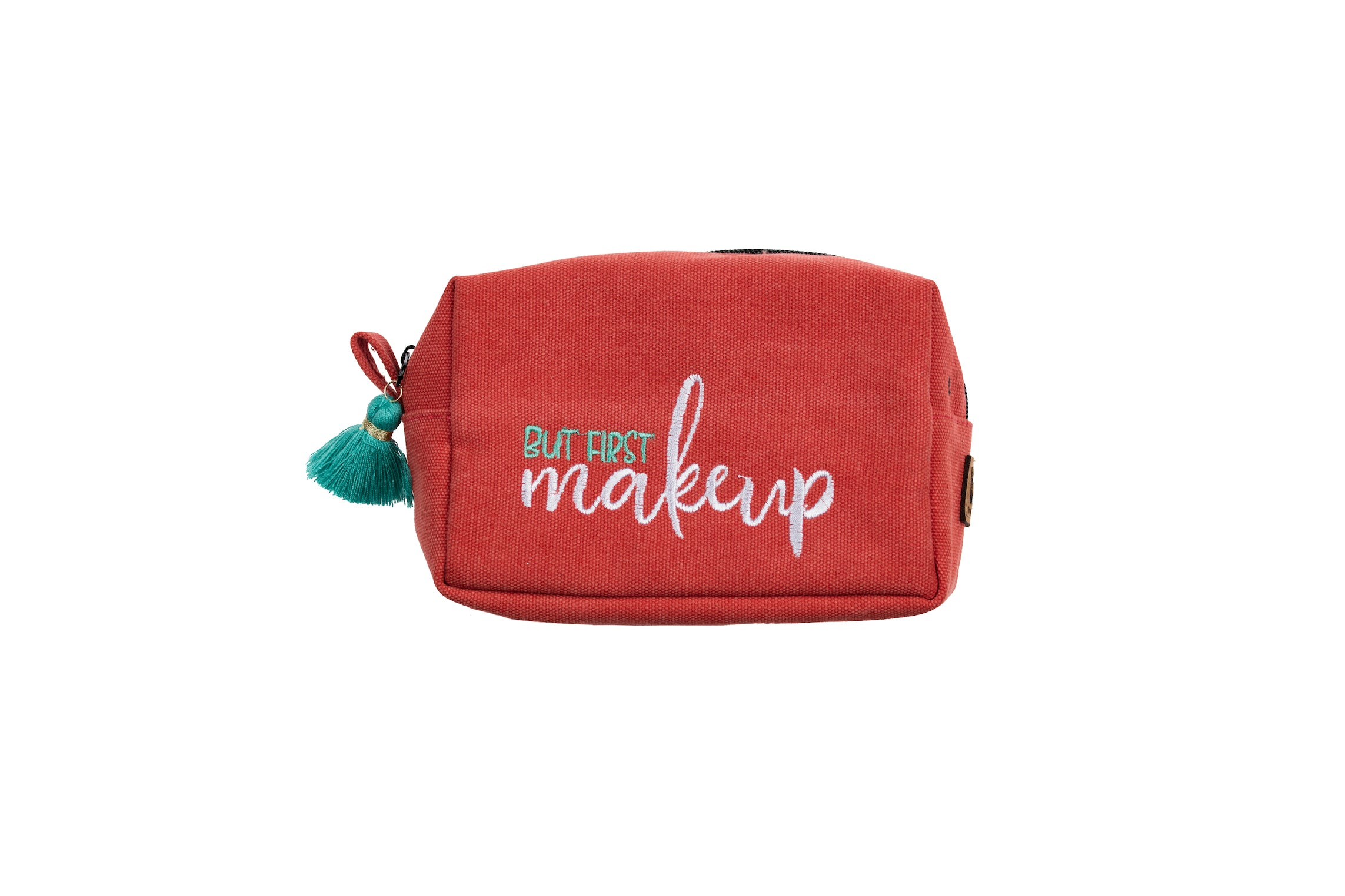 """But First Makeup"" Tasseled Zipper Pouch"