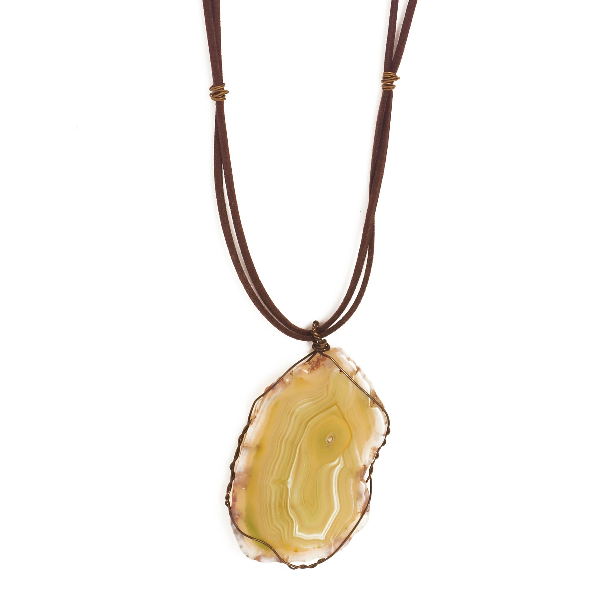 Natural Stone Agate Necklace