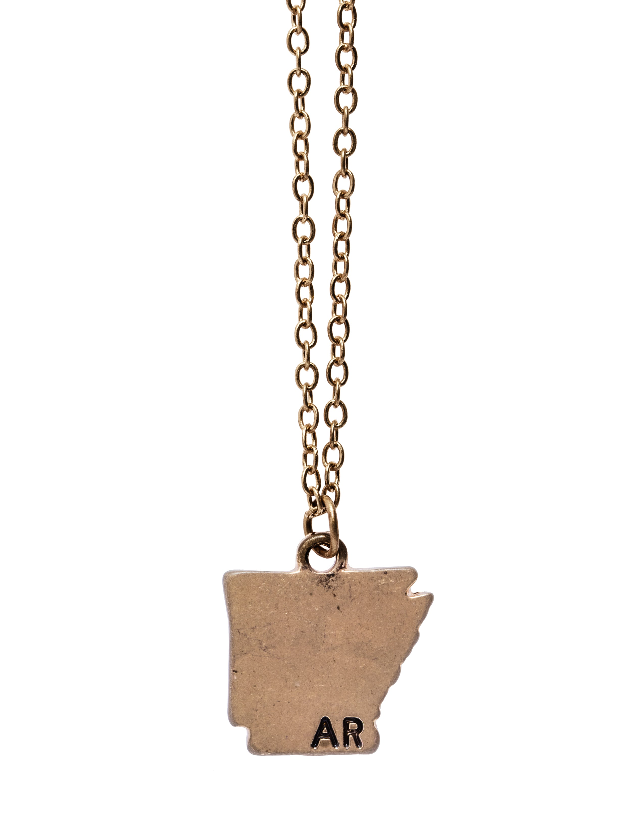 """Arkansas"" State Initial Necklace"