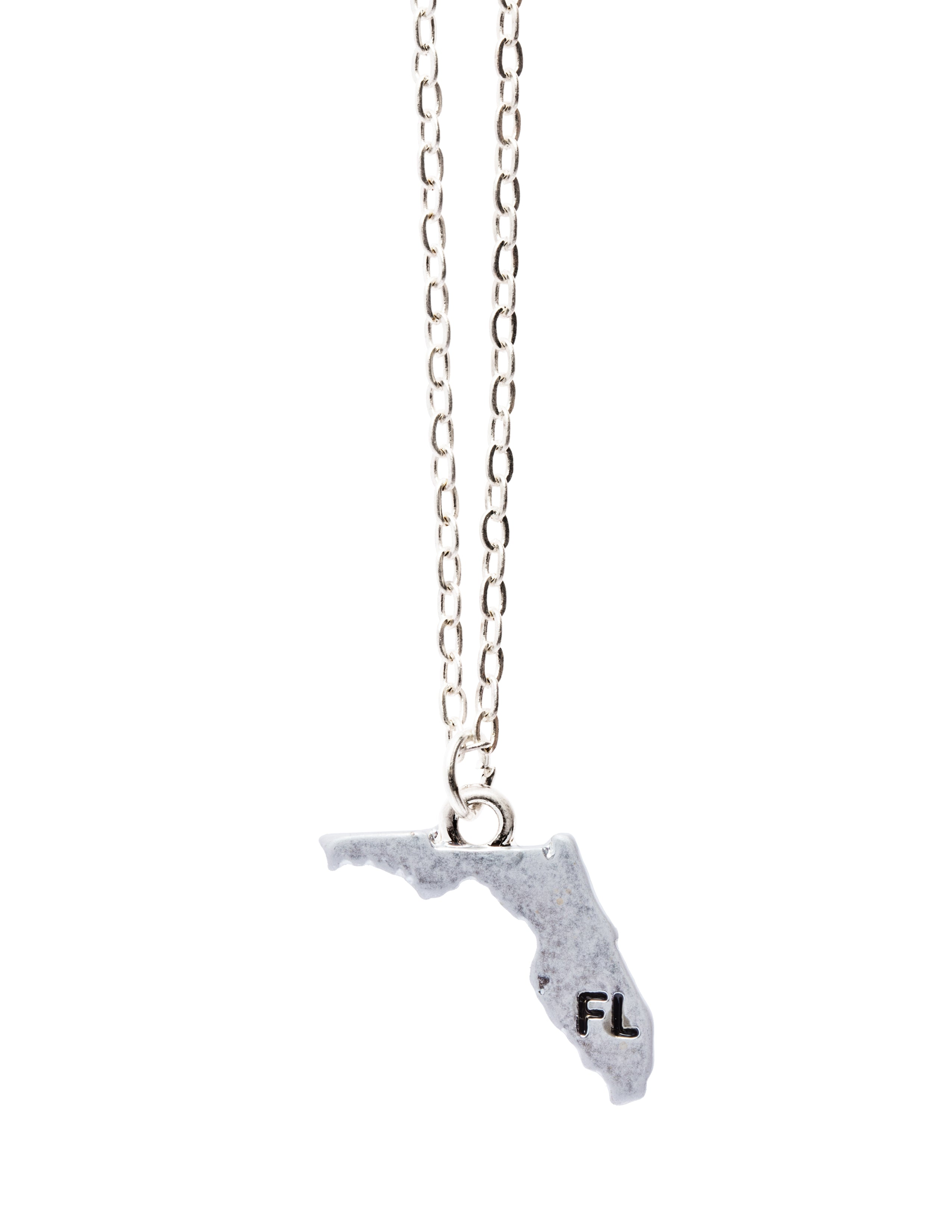 """Florida"" State Initial Necklace"