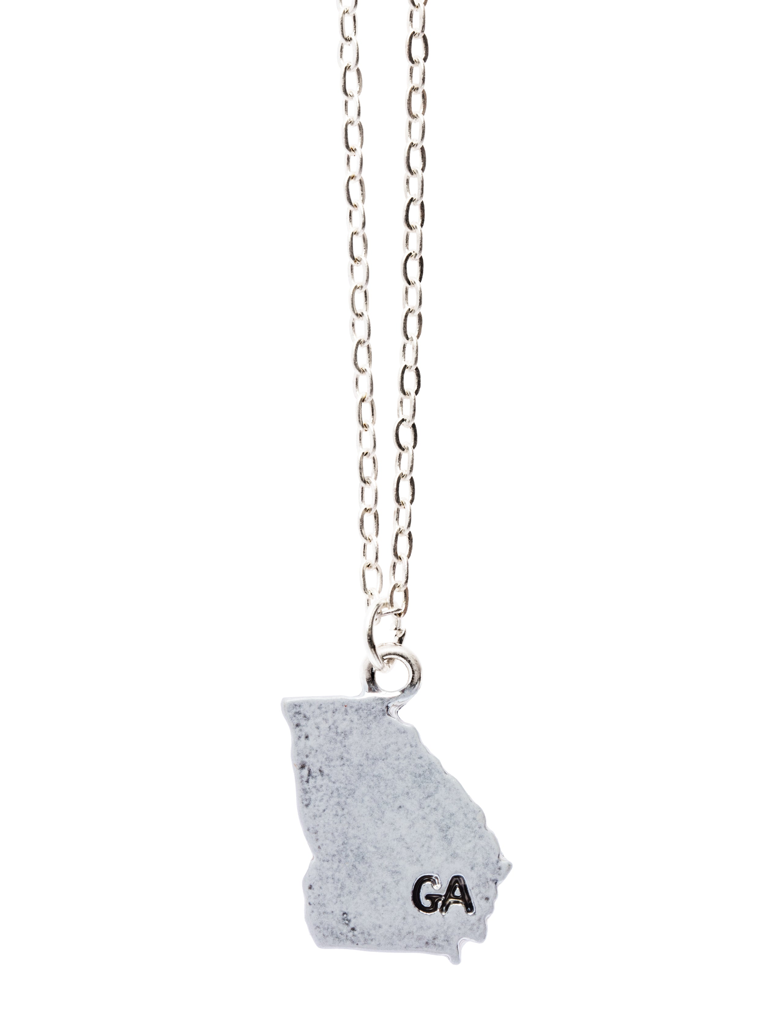 """Georgia"" State Initial Necklace"