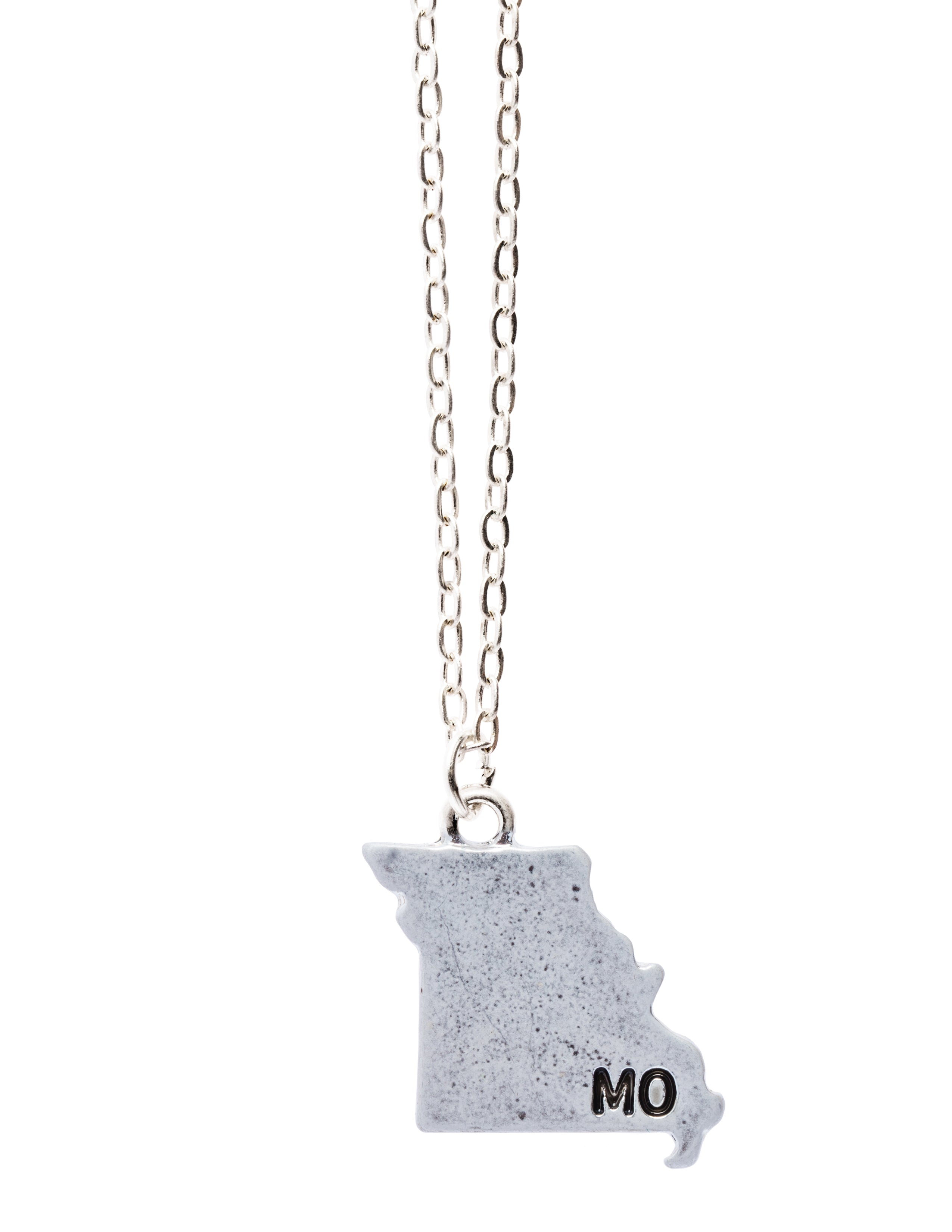 """Missouri"" State Initial Necklace"