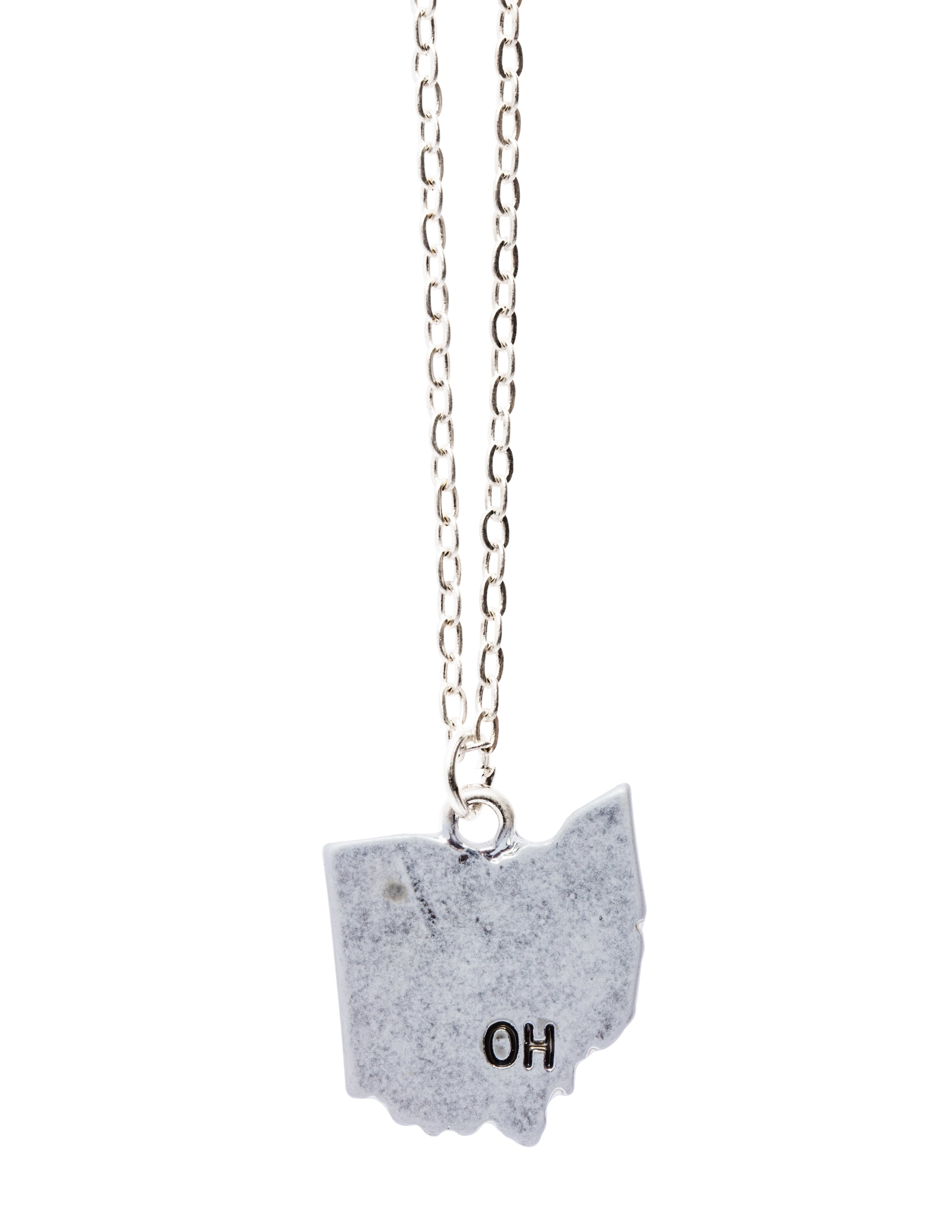 """Ohio"" State Initial Necklace"