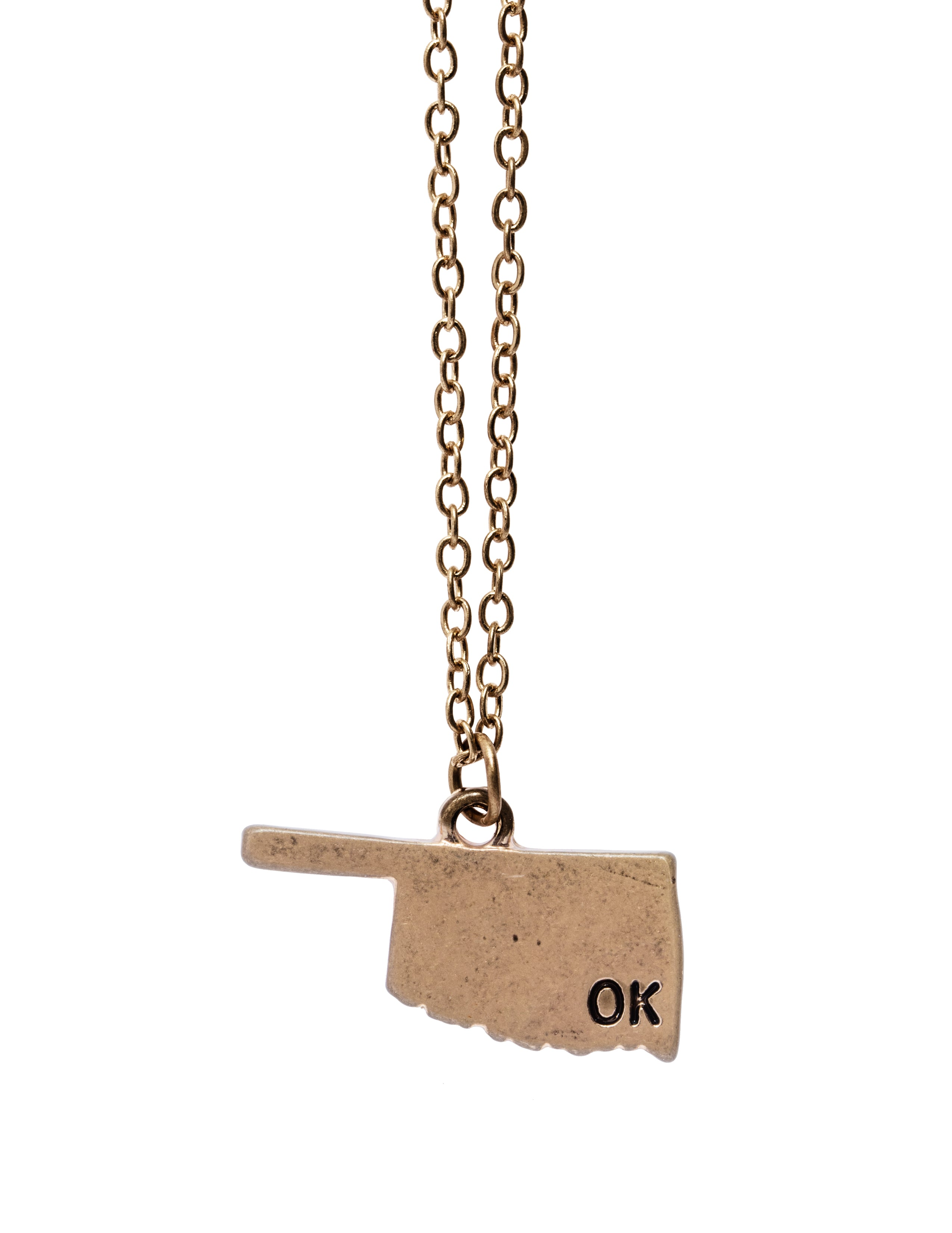 """Oklahoma"" State Initial Necklace"