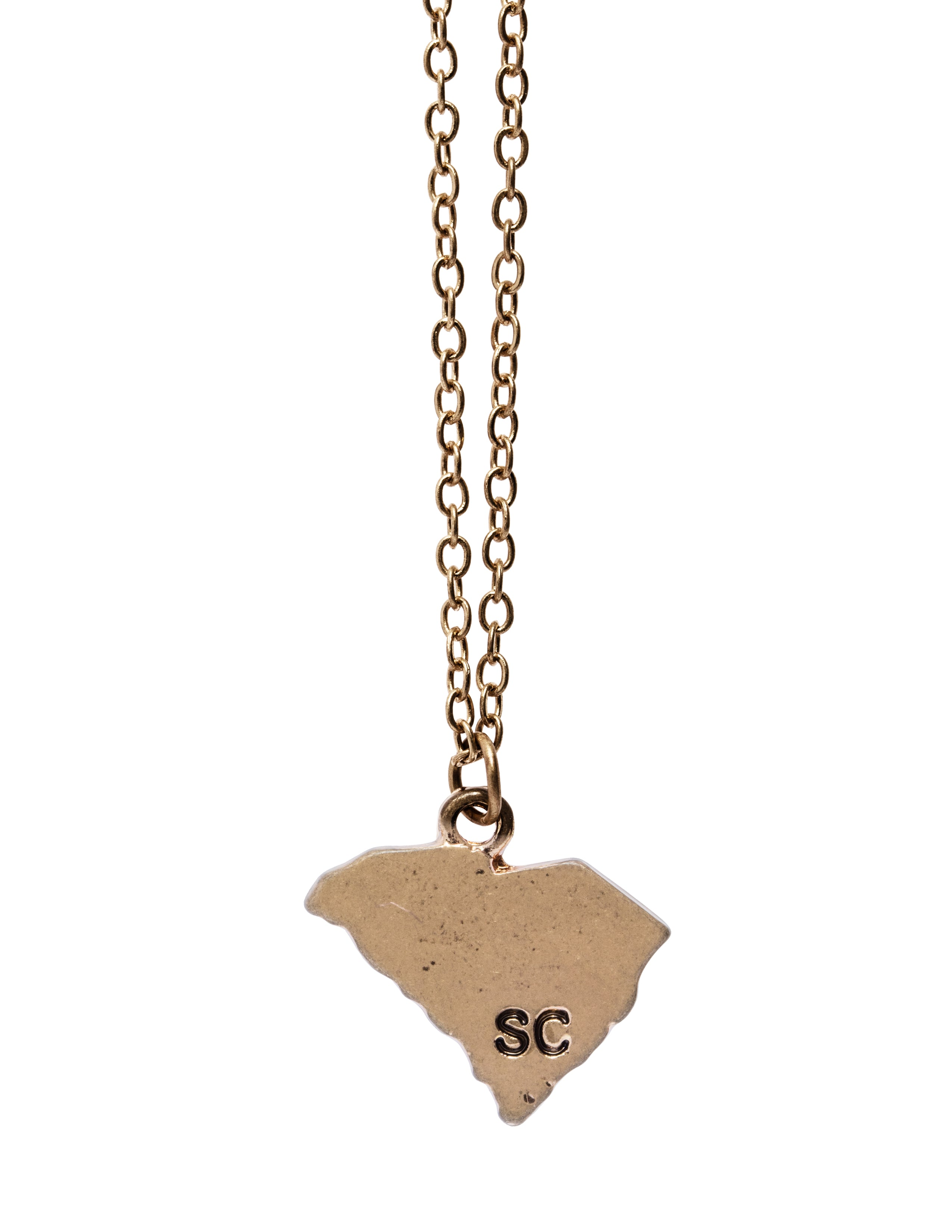 """South Carolina"" State Initial Necklace"