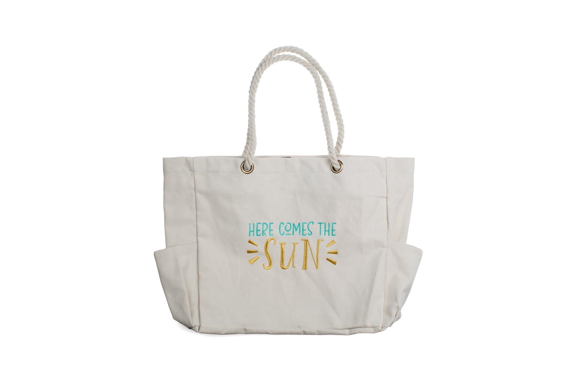 """Here Comes The Sun"" Canvas Zipper Tote Bag"
