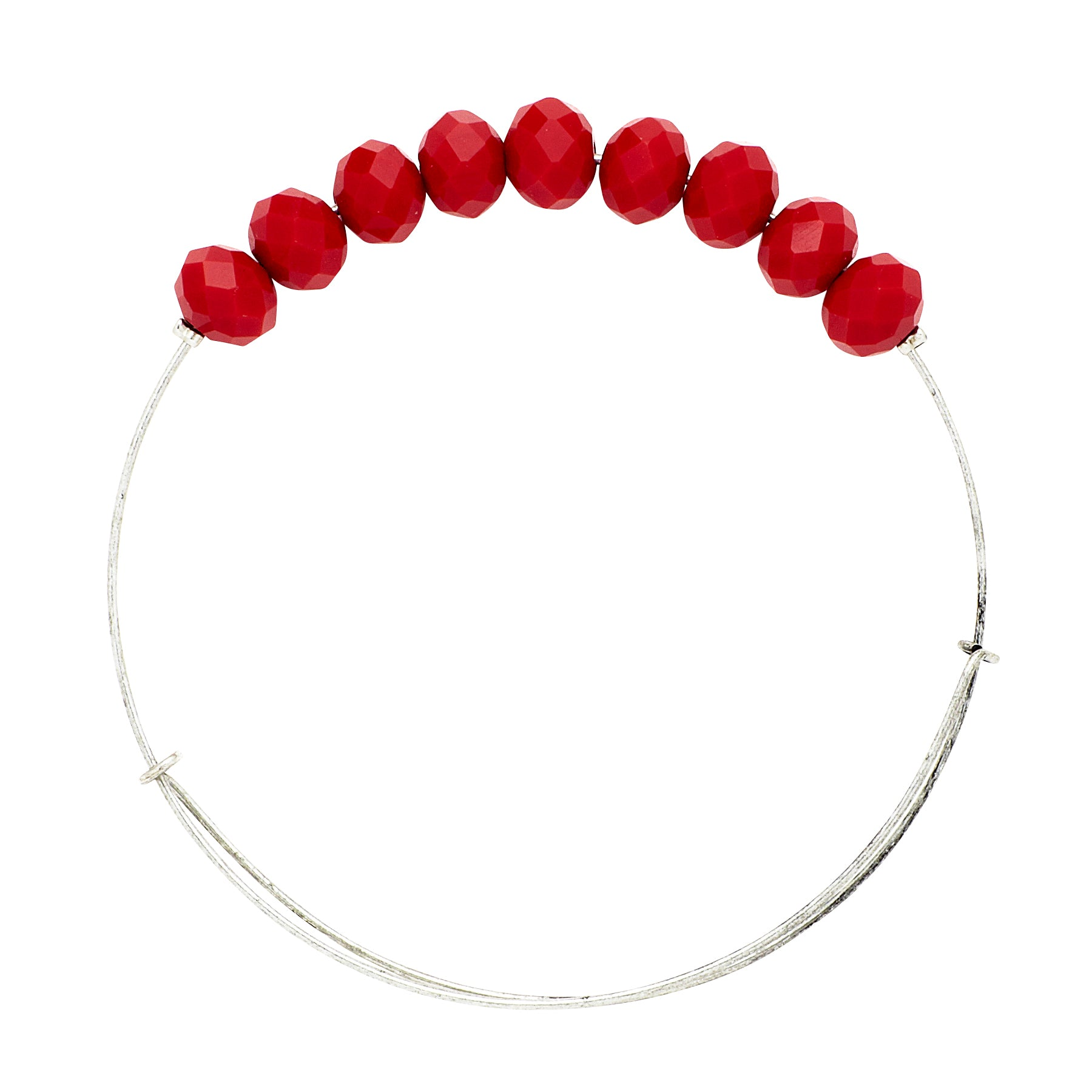 *Large Red Crystal Wire Bangle