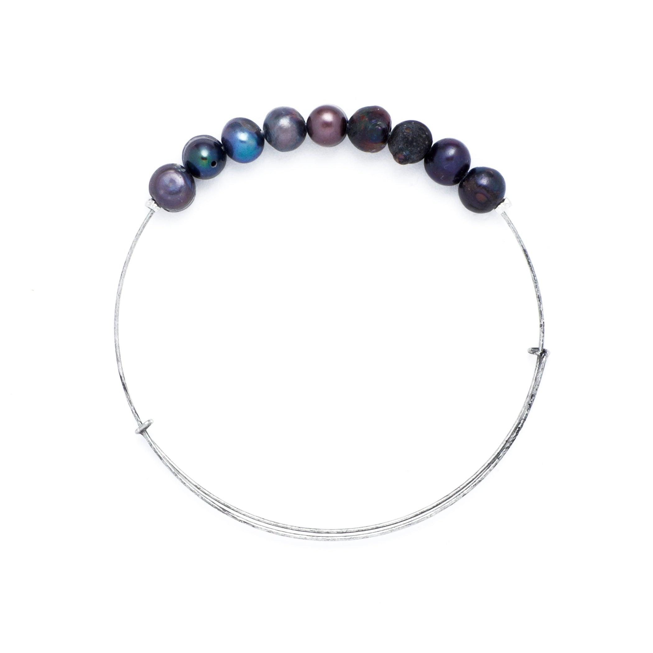 *Freshwater Pearl Wire Bangle