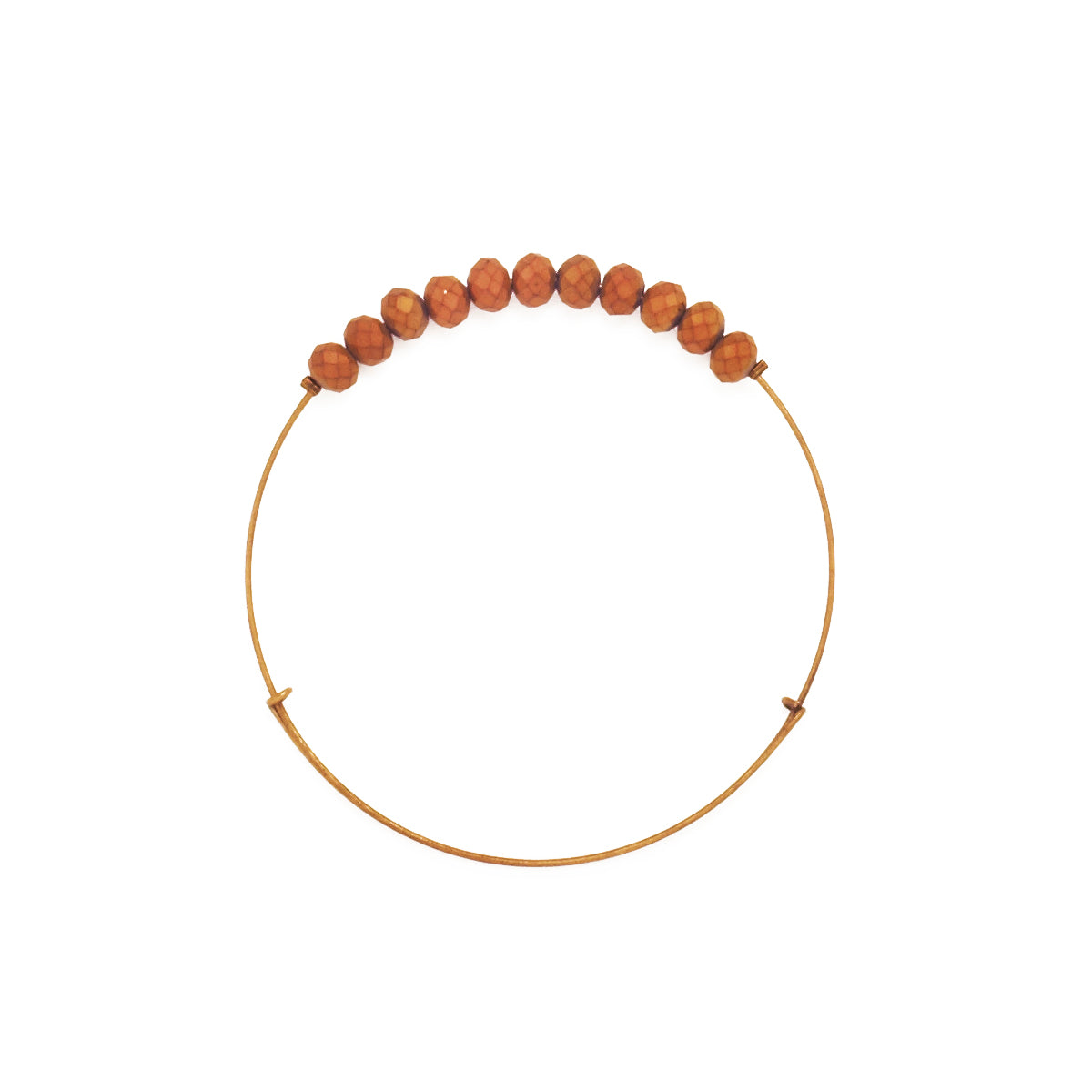 *Gold Matte Crystal Wire Bangle