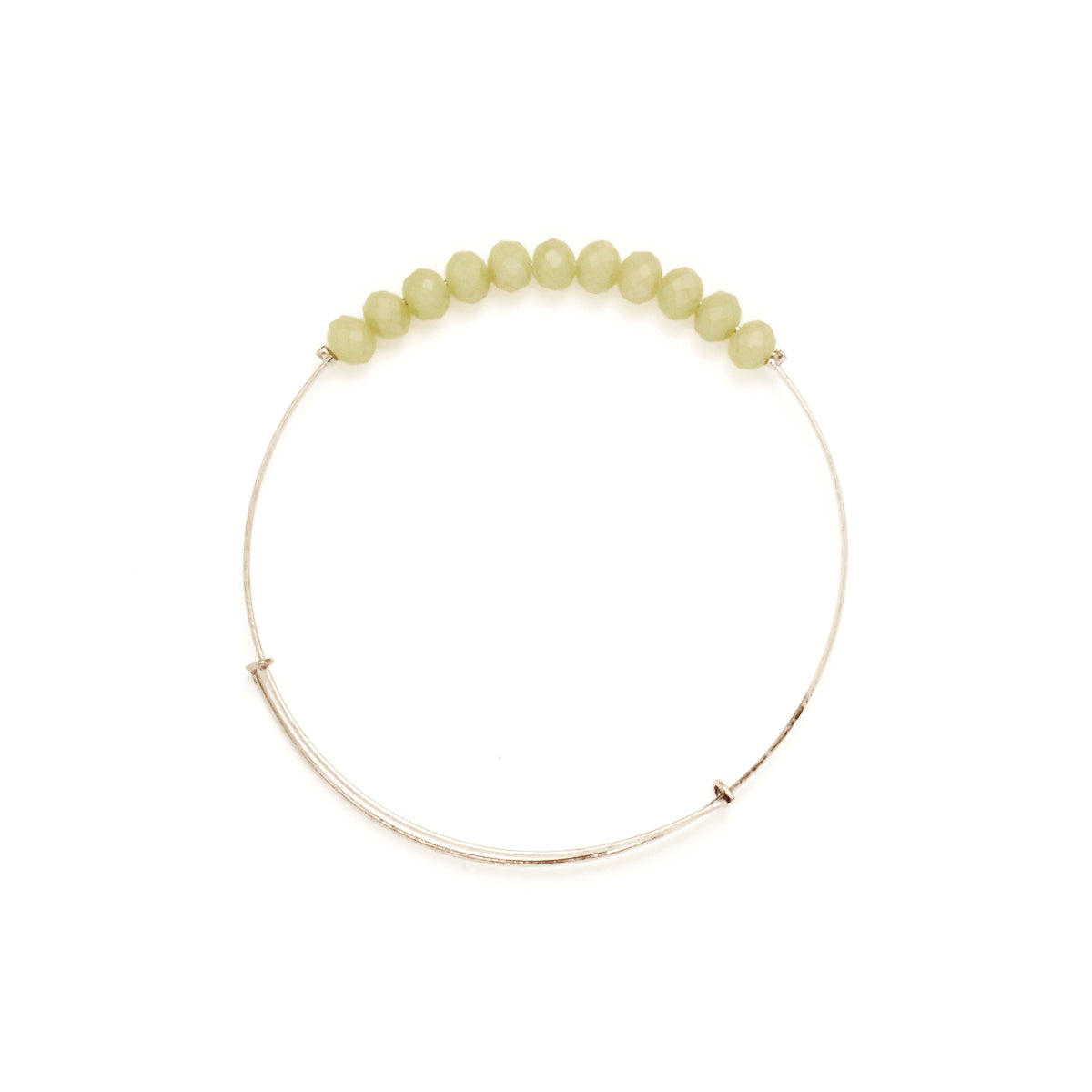 Mint Matte Crystal Wire Bangle